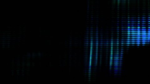 Video Background 1305: Abstract digital data forms pulse and flicker (Loop).