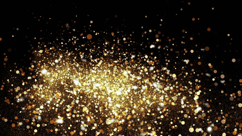 Abstract bokeh golden ember particles. HD animation with abstract sparkles. Motion background. | Shutterstock HD Video #25864028