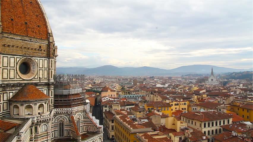 Florence, the famous dome of the Duomo, Santa Maria del Fiore   Shutterstock HD Video #25935308