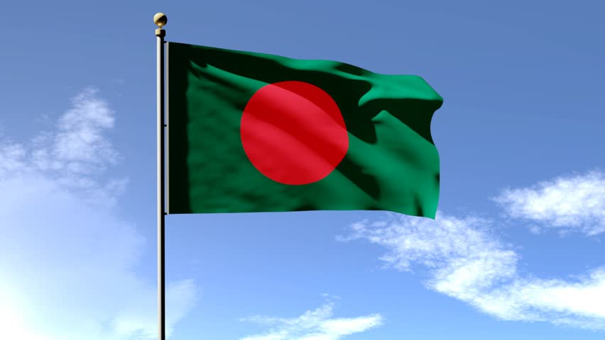 bangladesh flag 3d animation with stock footage video  100