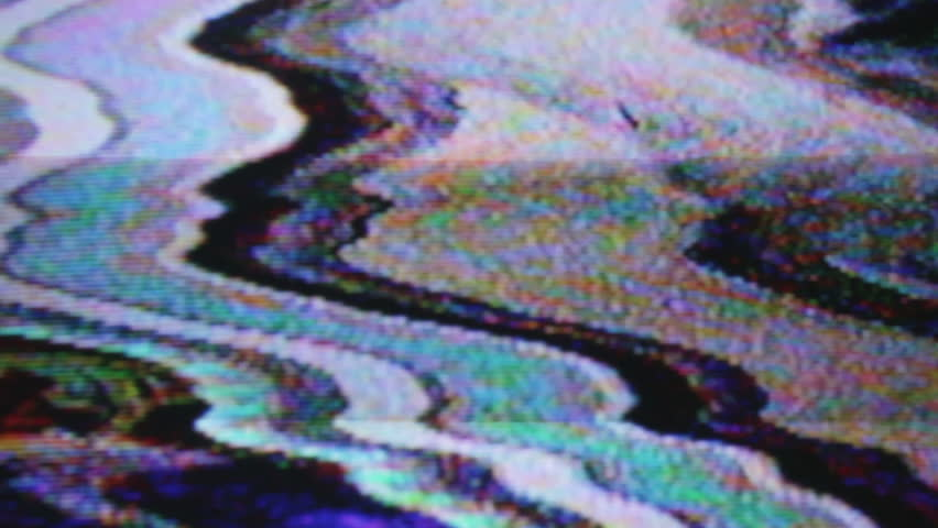 static and electronic noise captured from an old television with audio