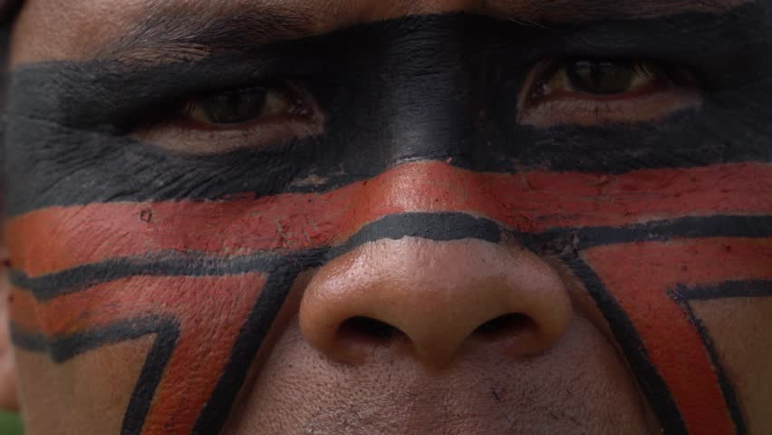 Closeup of Native Brazilian Indian Man