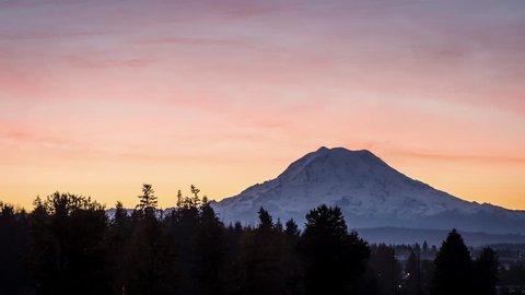 Mount Rainier Sunrise Time Lapse