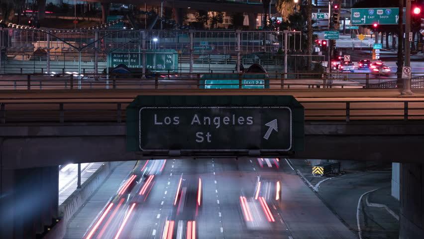 Freeway Busy Traffic 50 Time Lapse Night | Shutterstock HD Video #26119088