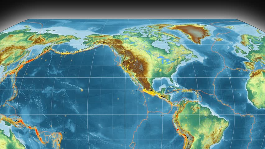 North America Tectonic Plate Featured Animated Against The - Global topographic map