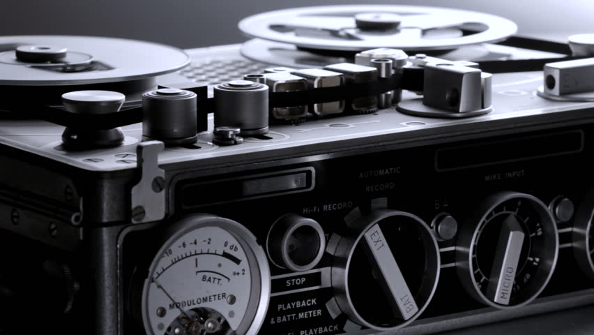 Close up of old tape recorder