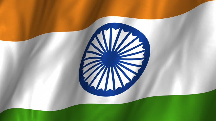 Flag of india beautiful 3d animation of india flag in loop mode a beautiful satin finish looping flag animation of india a fully digital rendering using the negle Image collections