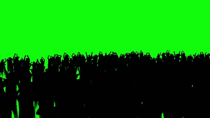 People Crowd Dance Discotheque Movi Cam Green Screen 3D Rendering Animation #26202848