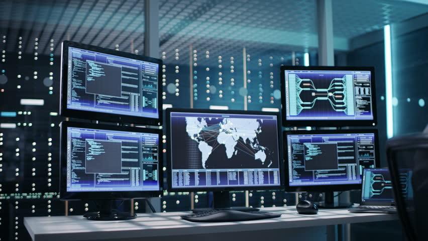 Futuristic Command Center Interface Loop Ready Stock