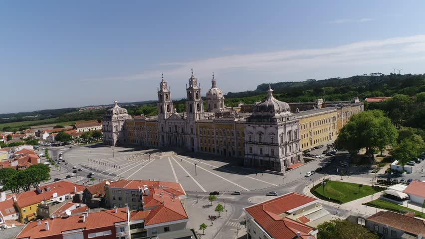 Great Cathedral of Mafra, Portugal Aerial View made by professinal drone #26267918