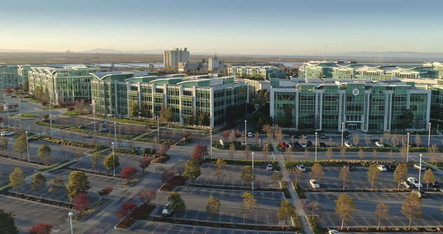 Aerial View Of buildings in Silicon Valley