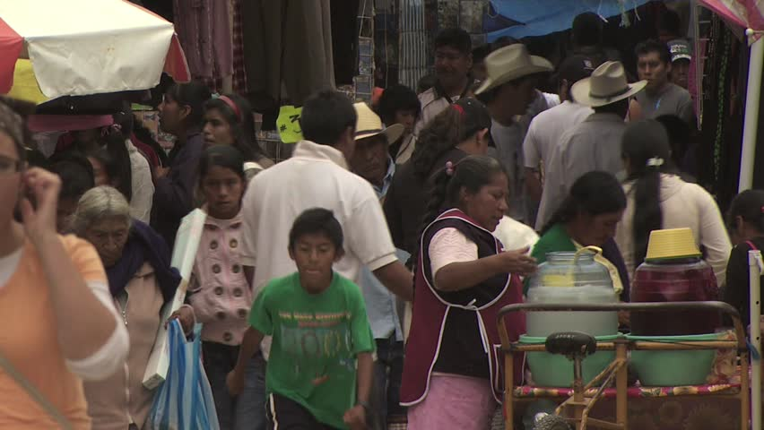 MEXICO CITY - CIRCA 2010: People Shopping At A Mexican Open Air Market 2