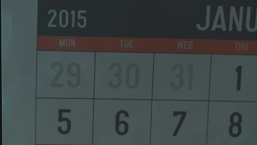 Calendar Page Of January 2015. Date Saturday 24 Circled With Sign ...