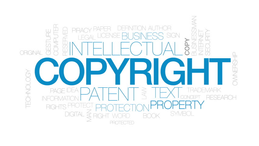 Flag With Copyright Symbol Concept Stock Footage Video 100