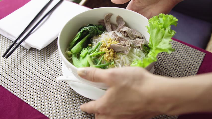 Waiter Serve Traditional Vietnam Pho Stock Footage Video (100%  Royalty-free) 26317718 | Shutterstock