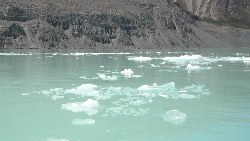 Tasman Glacier from Boat View, Aoraki Mt Cook National Park, New Zealand. #26366588