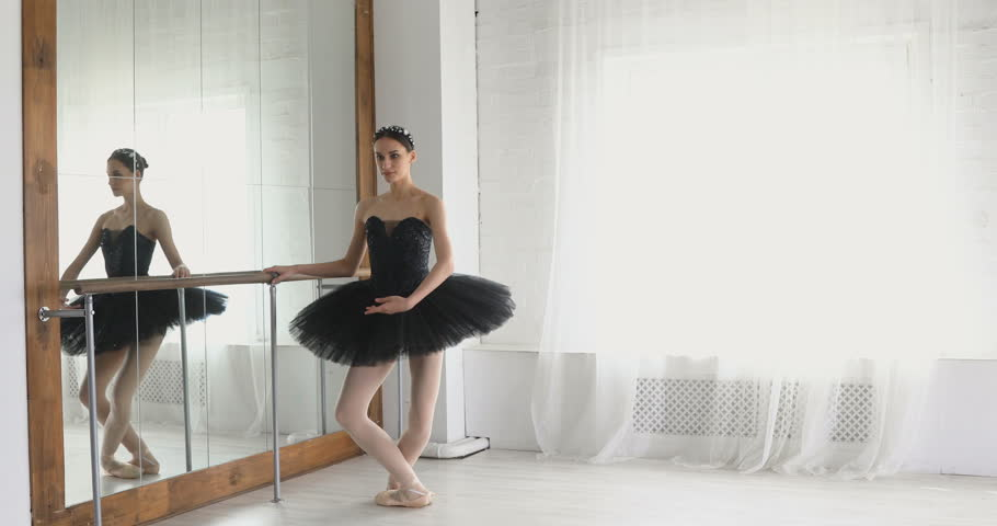 Graceful girl practicing ballet in the Studio | Shutterstock HD Video #26395148