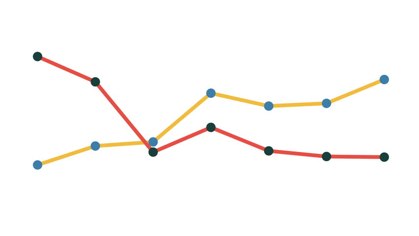 Line graph without axis. Grow chart business concept. Animation for yours presentation. | Shutterstock HD Video #26398328