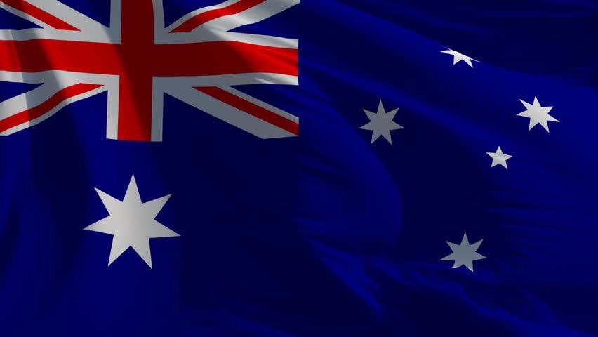 Flag of Australia: seamless loop animation (full screen)