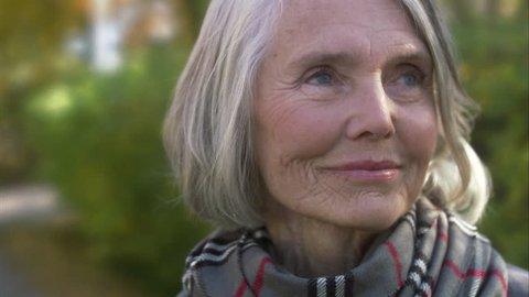 An older woman.