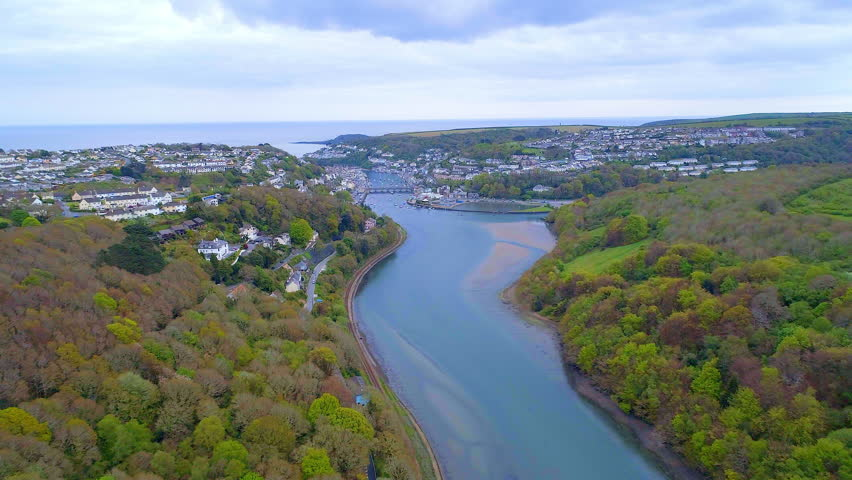 Looe in Cornwall England. A Picturesque Seaside Hamlet on the South Coast