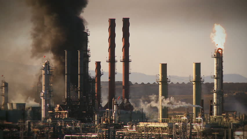 Fire at an oil refinery in Richmond, California.