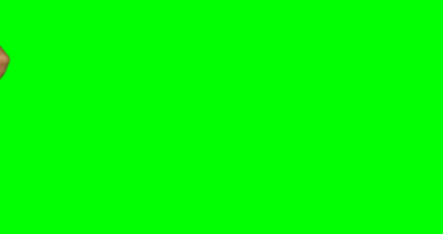 Close-up of person making hand gesture against green screen background | Shutterstock HD Video #26485178