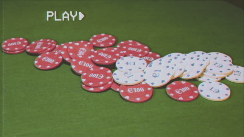 Fake VHS tape: poker chips grabbed by the opponent player after showing the winning cards.