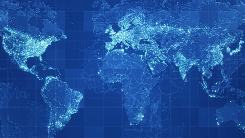 Blue Global Maps Network Rollback Videos De Stock 100 Libres De