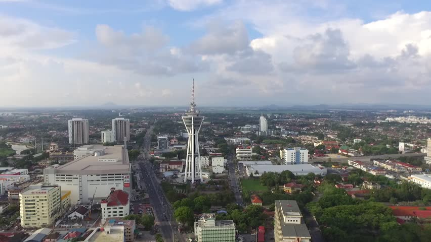 Alor Setar Tower, main attraction of Alor Setar Town,northern region of Malaysia, Beautiful sunny day | Shutterstock HD Video #26580488