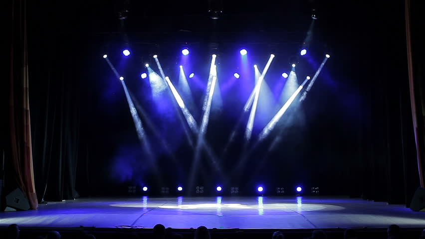 Stage Lights Flashing. White. Bright Concert Lights ...