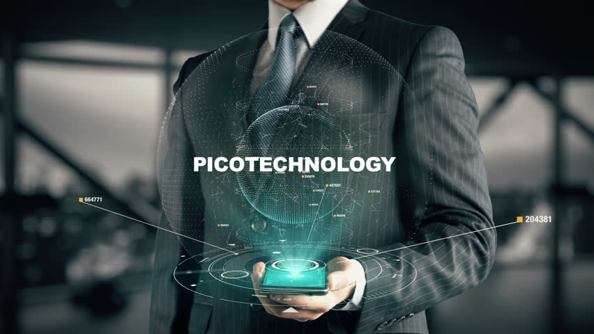 Businessman with Picotechnology hologram concept   Shutterstock HD Video #26638768