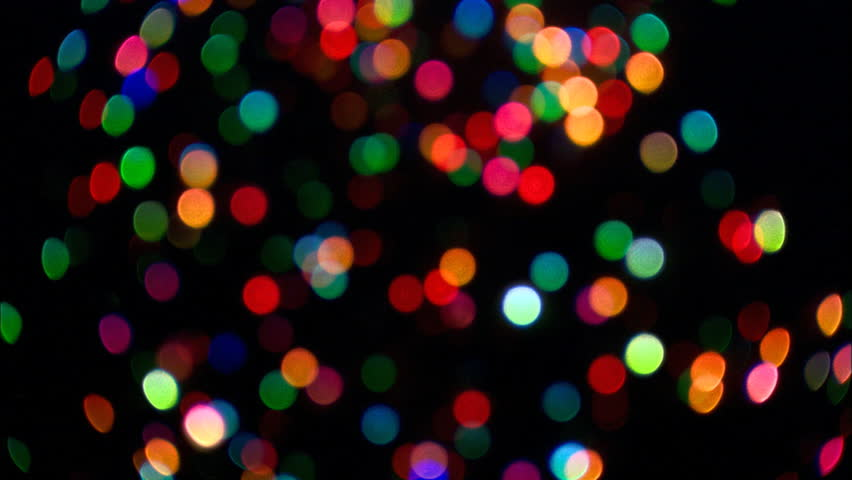 Abstract Background Of Shimmering Lights Bokeh In The