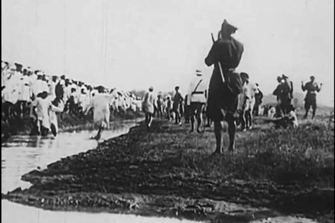 1930s: Indians riot over the arrest of Mahatma Gandhi at the Dandi Salt March, Lord Irwin relents and the Gandhi Irwin Pact is issued, in India, 1931.