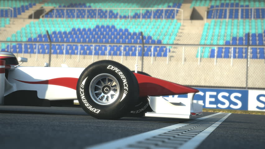 Formula One race car  crossing finish line - high quality 3d animation - visit our portfolio for more
