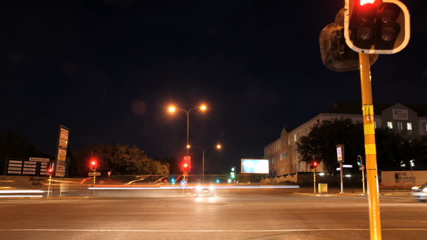 JOHANNESBURG, SOUTH AFRICA - CIRCA MARCH 2011 - Timelapse driving down Rivonia Road in Sandton, through the heart of Sandton, the financial and business center of Johannesburg, South Africa.