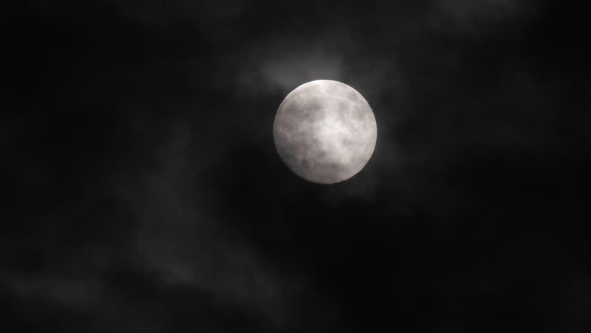 Timelapse with moon moving between clouds | Shutterstock HD Video #26752339