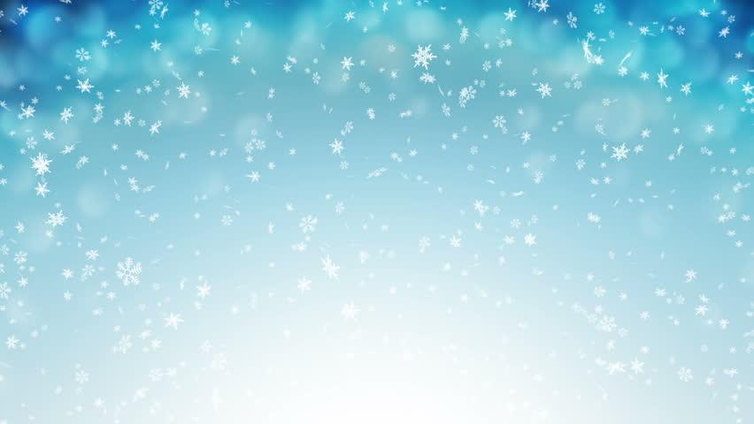 Gentle Christmas Morning Snow - seamless loop