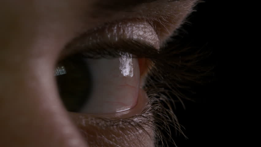 Macro of man eye looking around left and right up and down #26815078