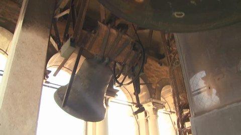 VENICE, ITALY-CIRCA 2011-Church bells ring out over Venice.