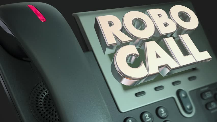 Robo Call Telephone Marketing Spam Junk Phone Calling 3d Animation