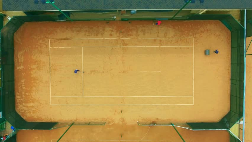 People Prepare A Tennis Court Stock Footage Video 100 Royalty