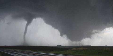 Dual tornadoes strike near Wakefield, Nebraska