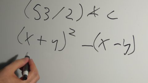 Doing math on a white board