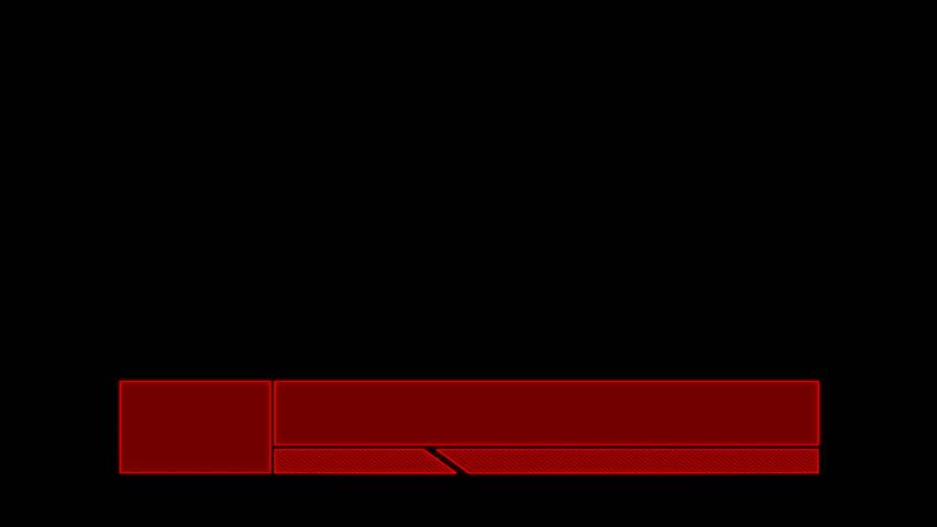 Tech lower third red alternate | Shutterstock HD Video #27029608