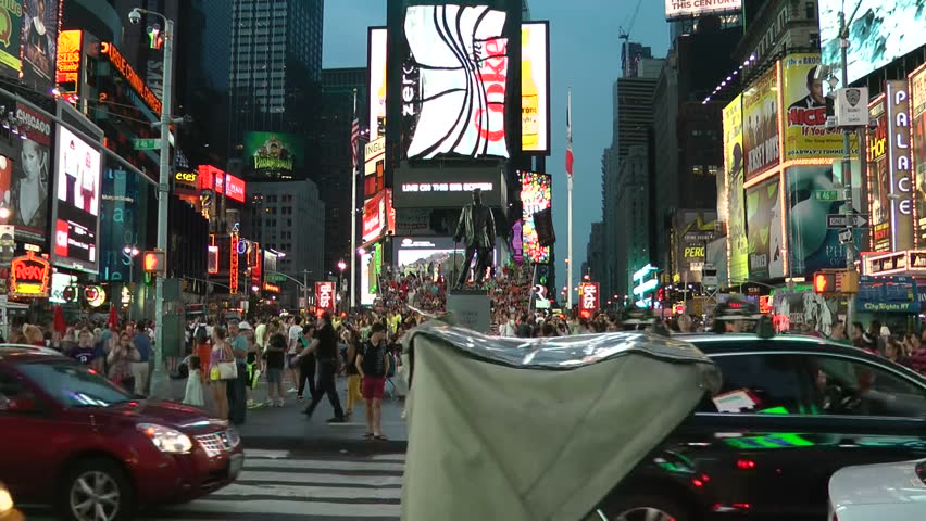 NEW YORK - AUGUST 7: time lapse of human traffic in Times Square shot on August 7, 2012 in New York, NY.