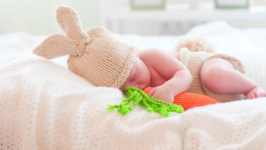 81067eaf6 Newborn Baby in Funny Bunny Stock Footage Video (100% Royalty-free)  27057448 | Shutterstock