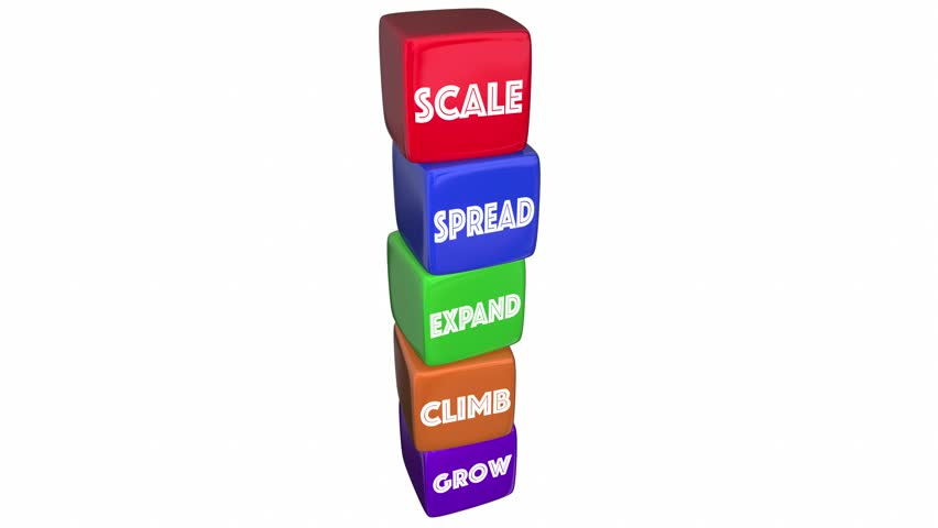 Scale Expand Grow Blocks Steps Increase Words 3d Animation | Shutterstock HD Video #27078181