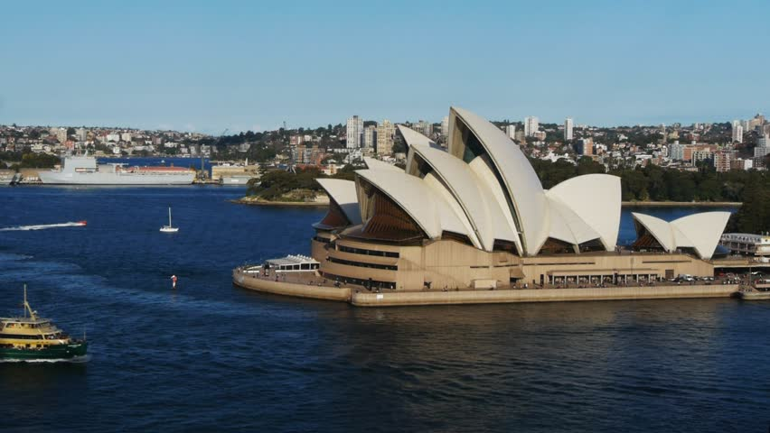 SYDNEY, AUSTRALIA - AUGUST 19: Sydney Opera House as the manly ferry sails past on August 19, 2012 in Sydney, Australia.
