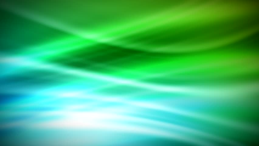 Abstract CGI motion graphics and animated background with green and blue lines